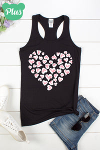 Hearts Tank Top in Plus Size