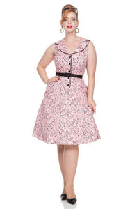 Voodoo Vixen May Belle pink cocktail Dress