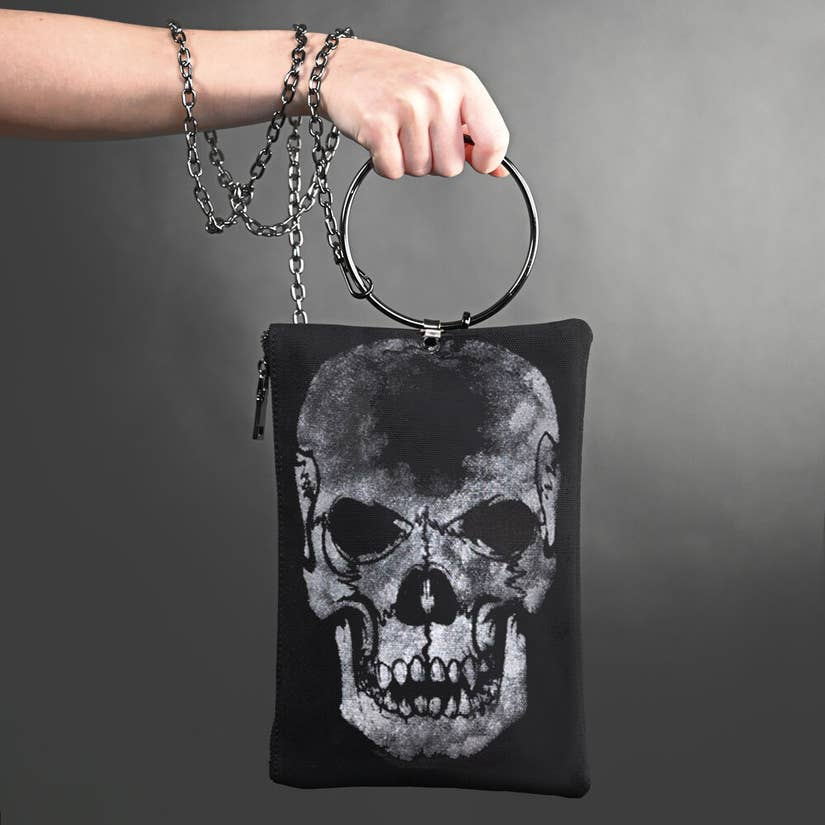 Skull Canvas Purse