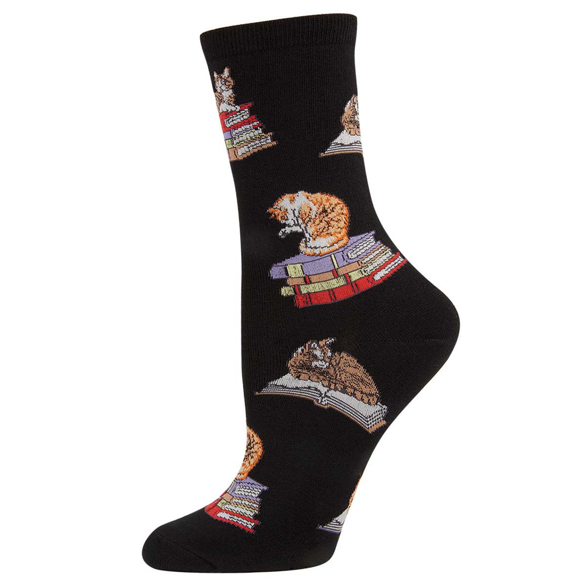 Cat on a Book Socks