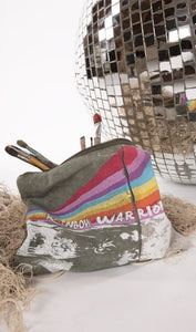 Magnolia Pearl Vintage Army Canvas Rainbow Warrior Zip Bag