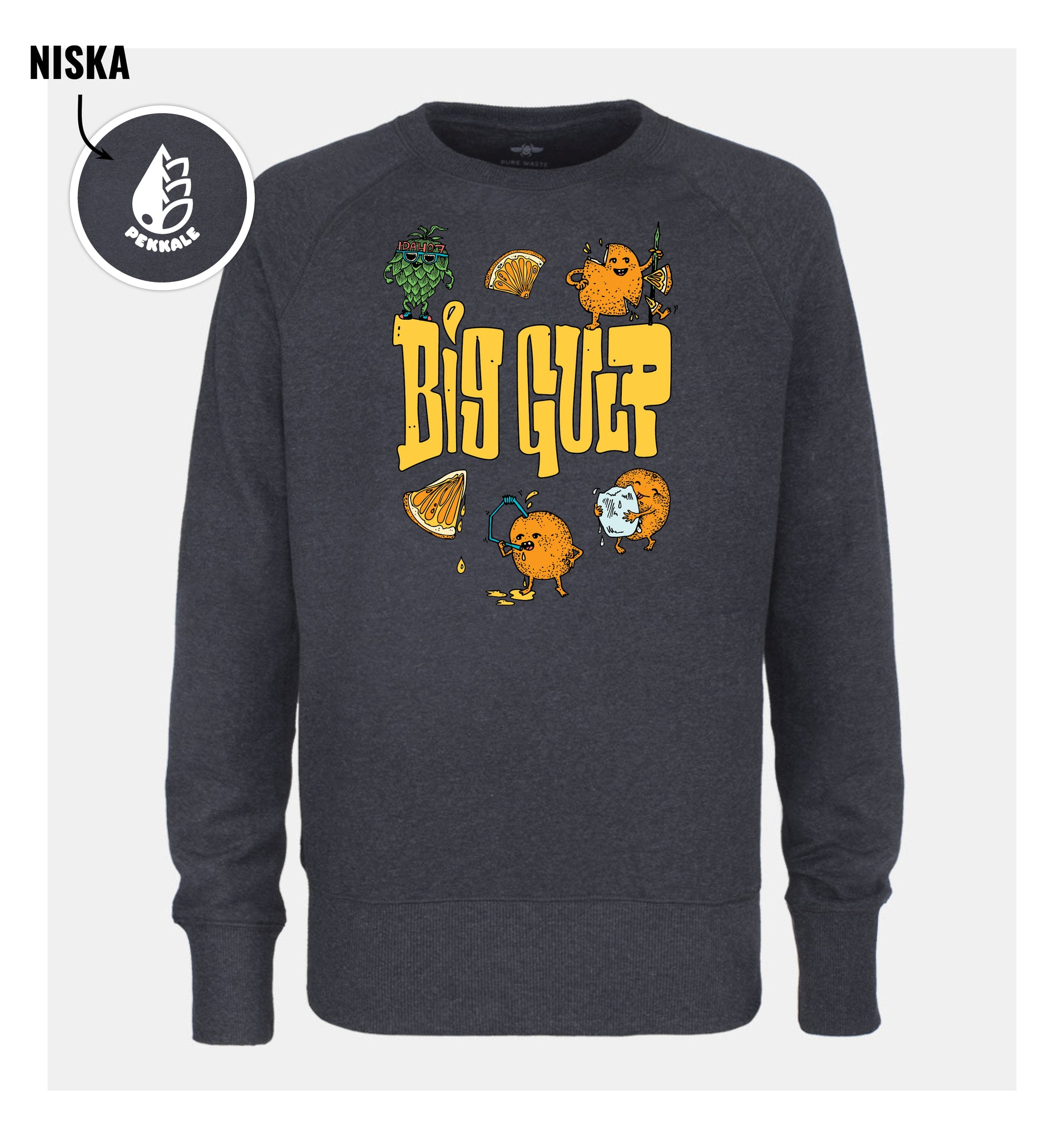 BIG GULP / Anthracite Sweatshirt / Unisex