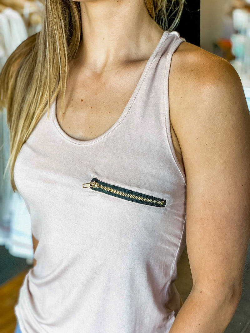 ZIPPER POCKET TANK