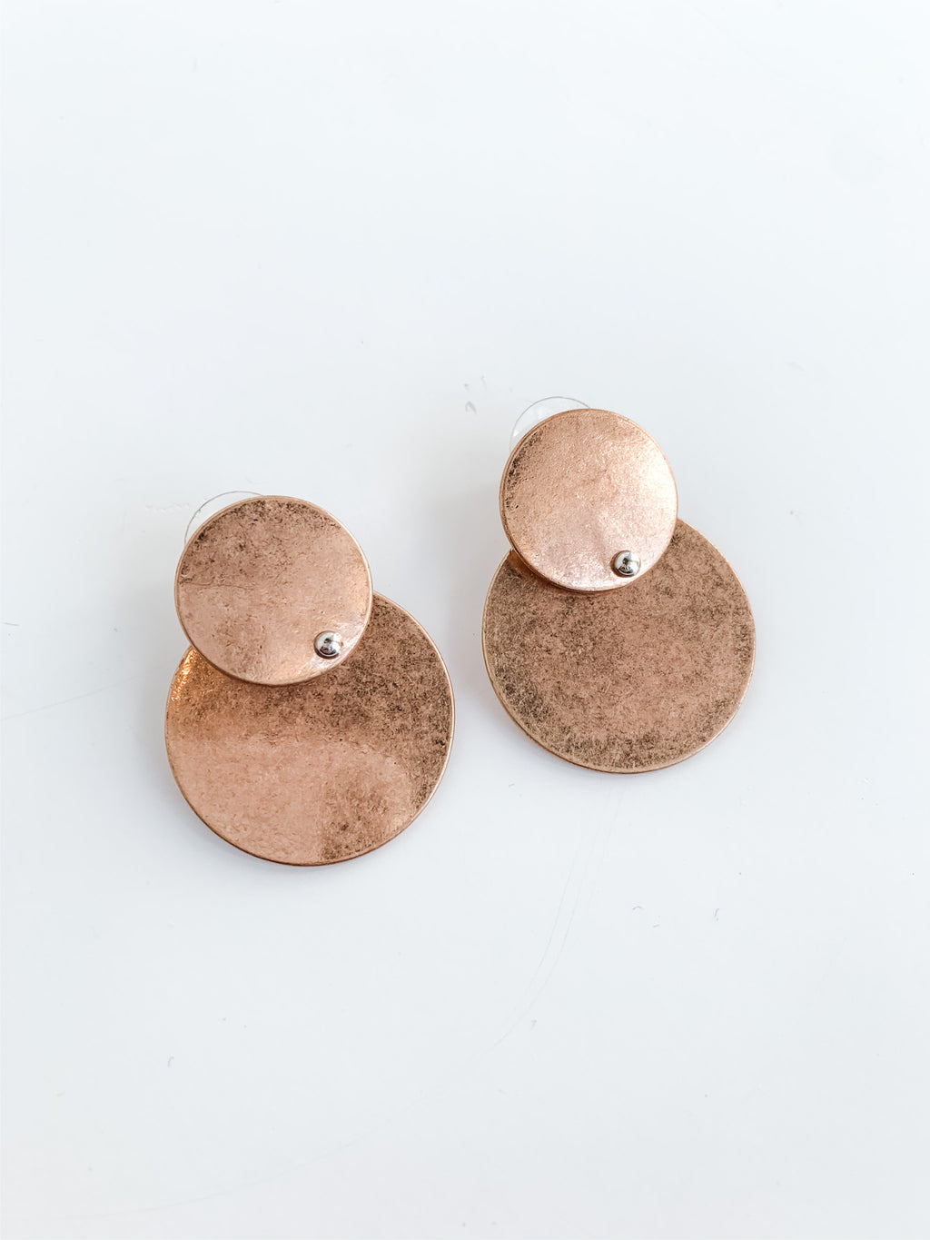 COPPER TIERED EARRINGS