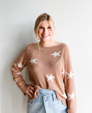 TAN STAR SWEATER