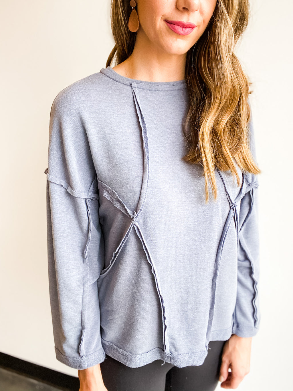 LOOSE FIT BLUE LONG SLEEVE