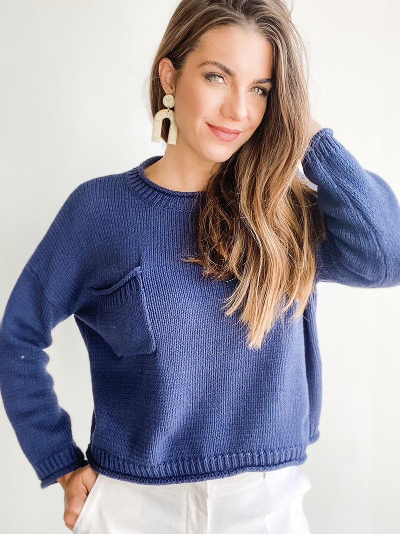 OXFORD CROP SWEATER