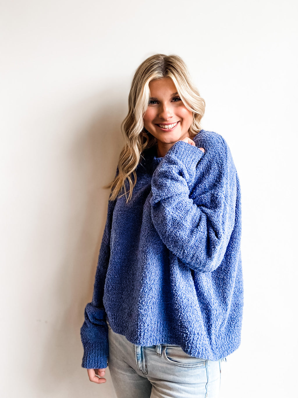COZY INDIGO SWEATER