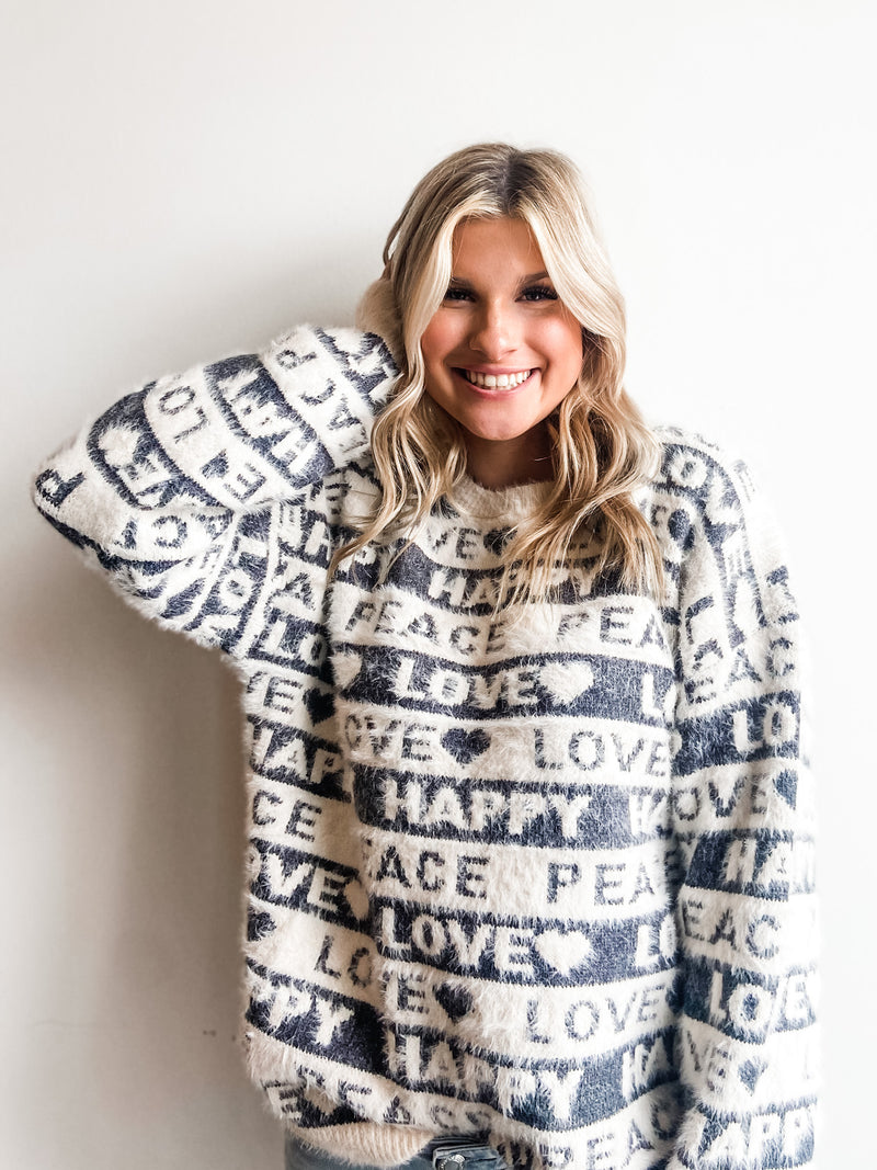 HAPPY AND LOVE SWEATER