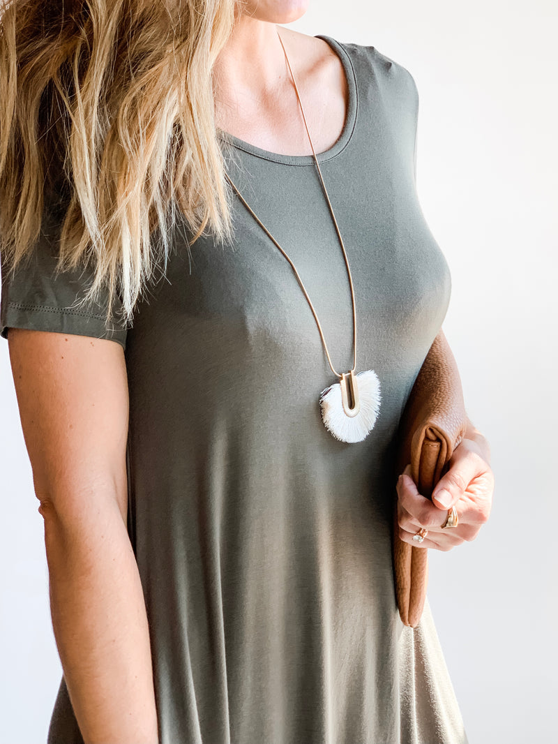 SOFT BASIC POCKET DRESS