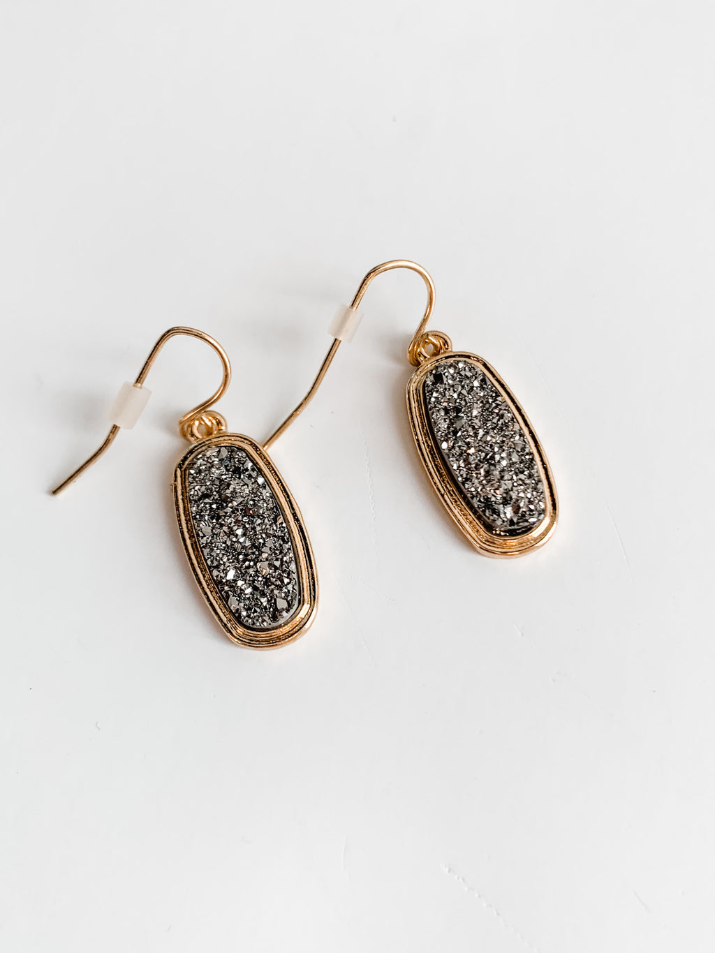 GOLD/SILVER DRUZY EARRINGS