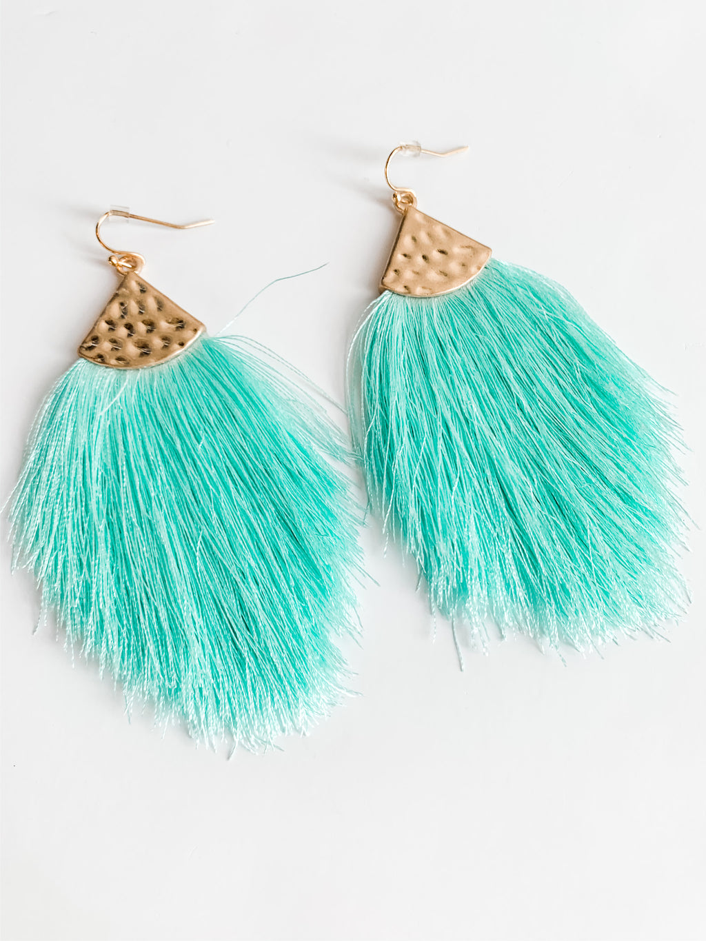 MINT TASSEL DROP EARRINGS