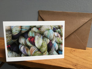 indie dyed yarn greeting card stationary set for crocheters