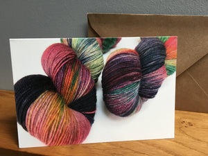 Random Mix Knitting Yarn Greeting Card Set
