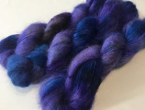 kettled dyed lace weight mohair for knitting and crochet