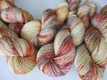 tamale inspired speckled yarn skeins for knitting