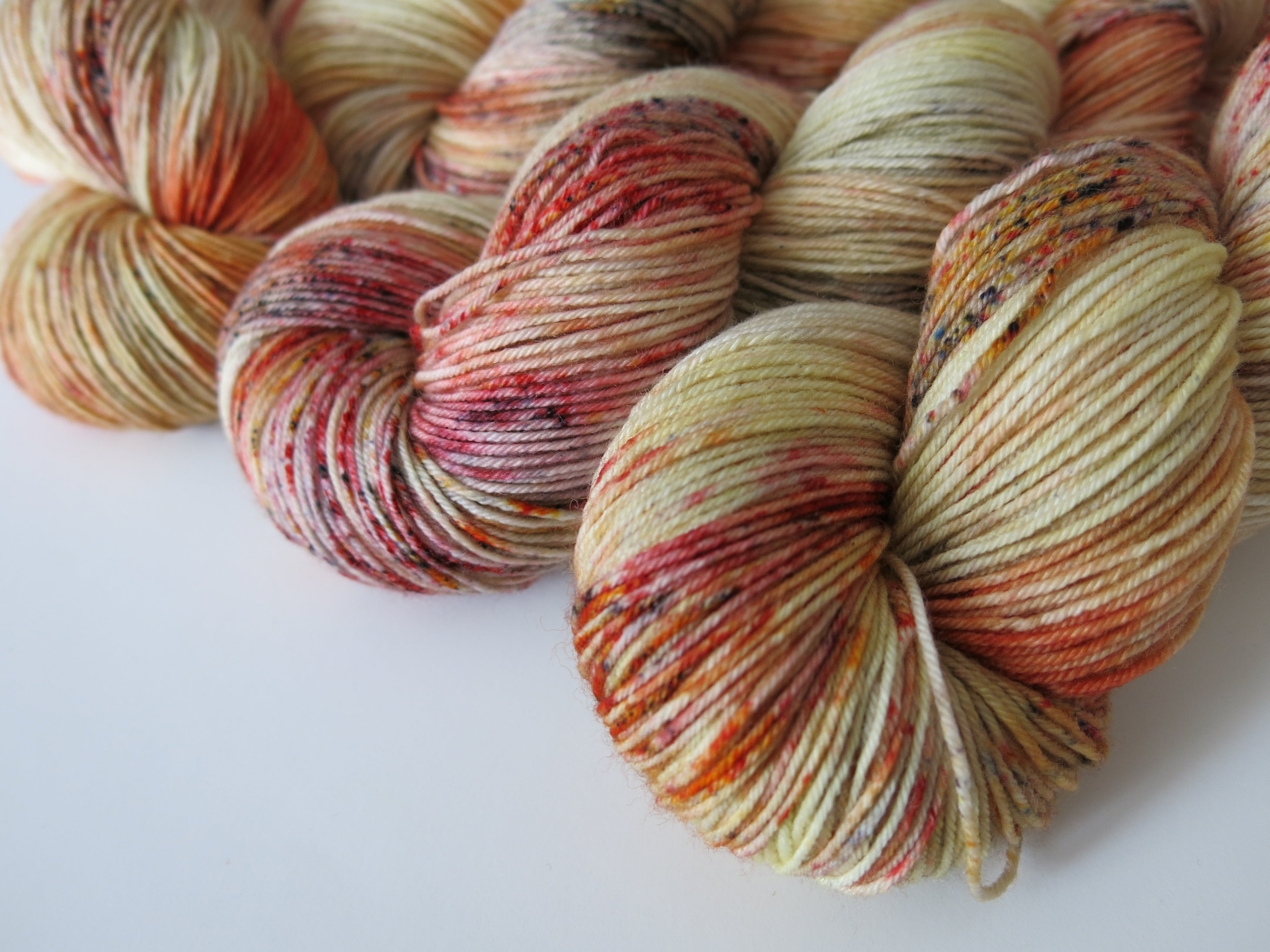 hand dyed yarn inspired by new mexico