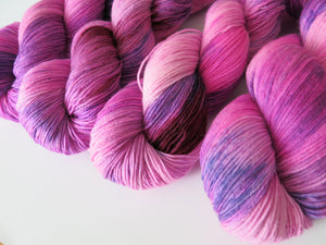 bright pink sock yarn by indie dyer my mama knits