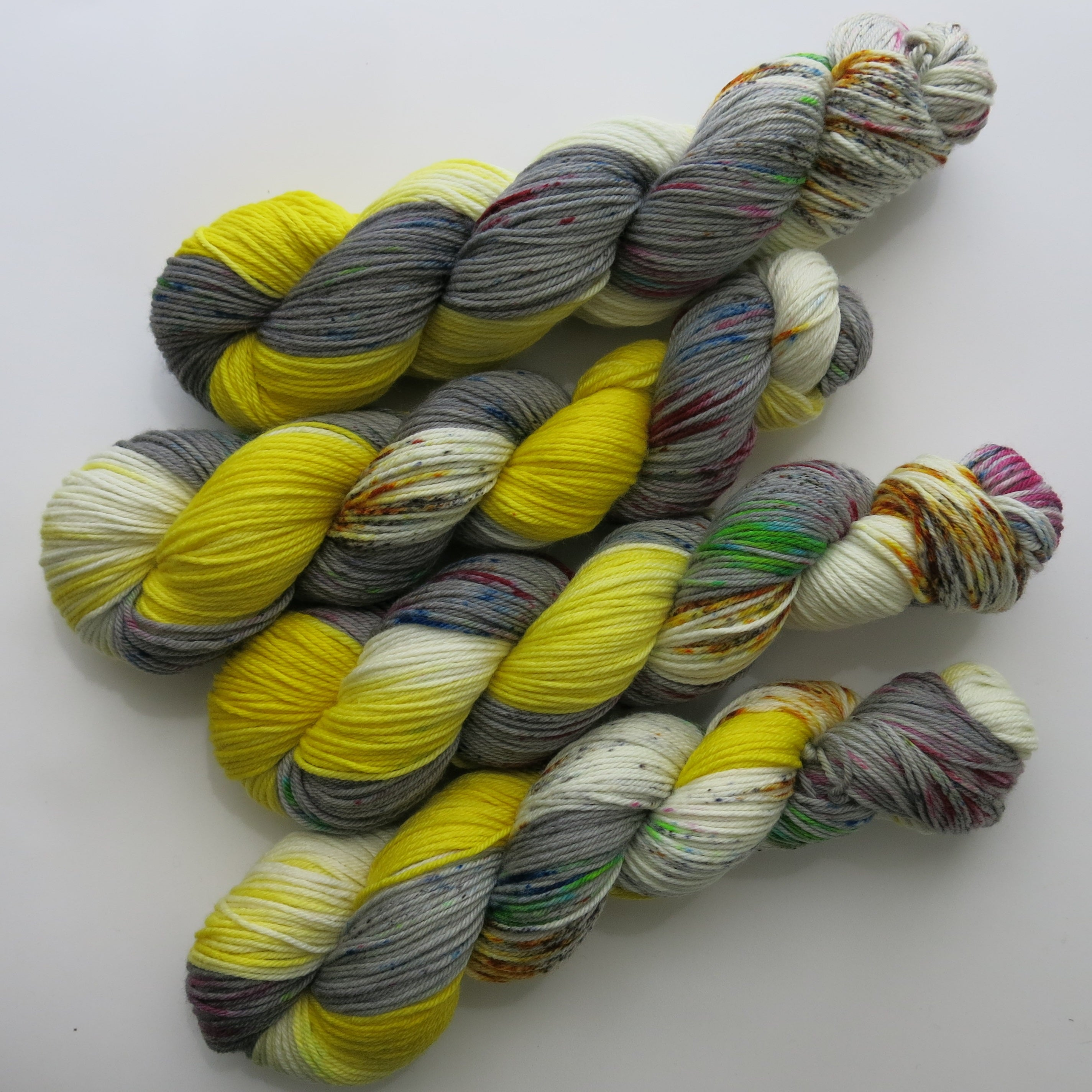 lemon meringue pie hand dyed merino dk yarn skeins
