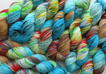 hand dyed superwash merino with nylon DK yarn skeins