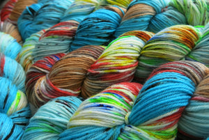 bat country hand dyed yarn inspired by fear and loathing