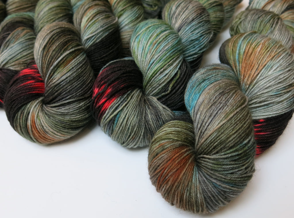 kelpie hand dyed superwash merino sock yarn