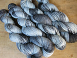 loch ness monster hand dyed grey and black sock yarn