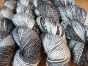 hand dyed superwash merino sock yarn skeins