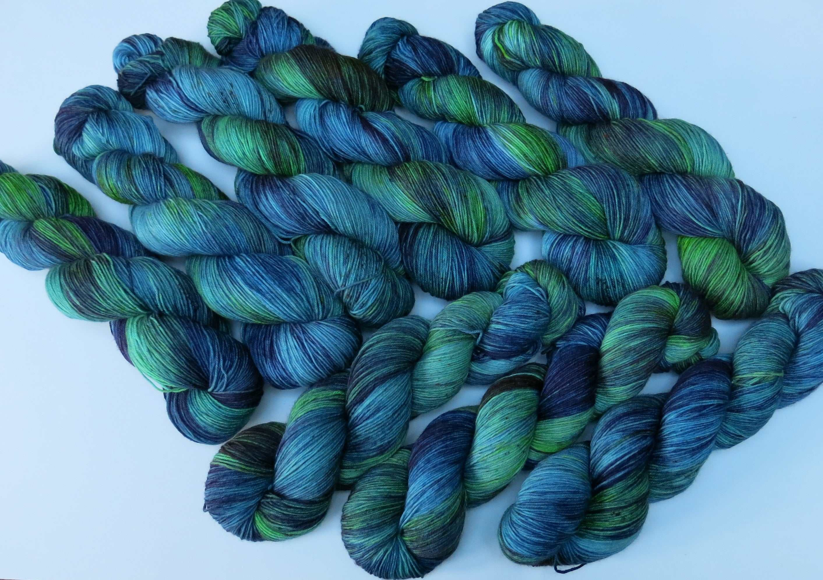 sea inspired indie dyed sock yarn