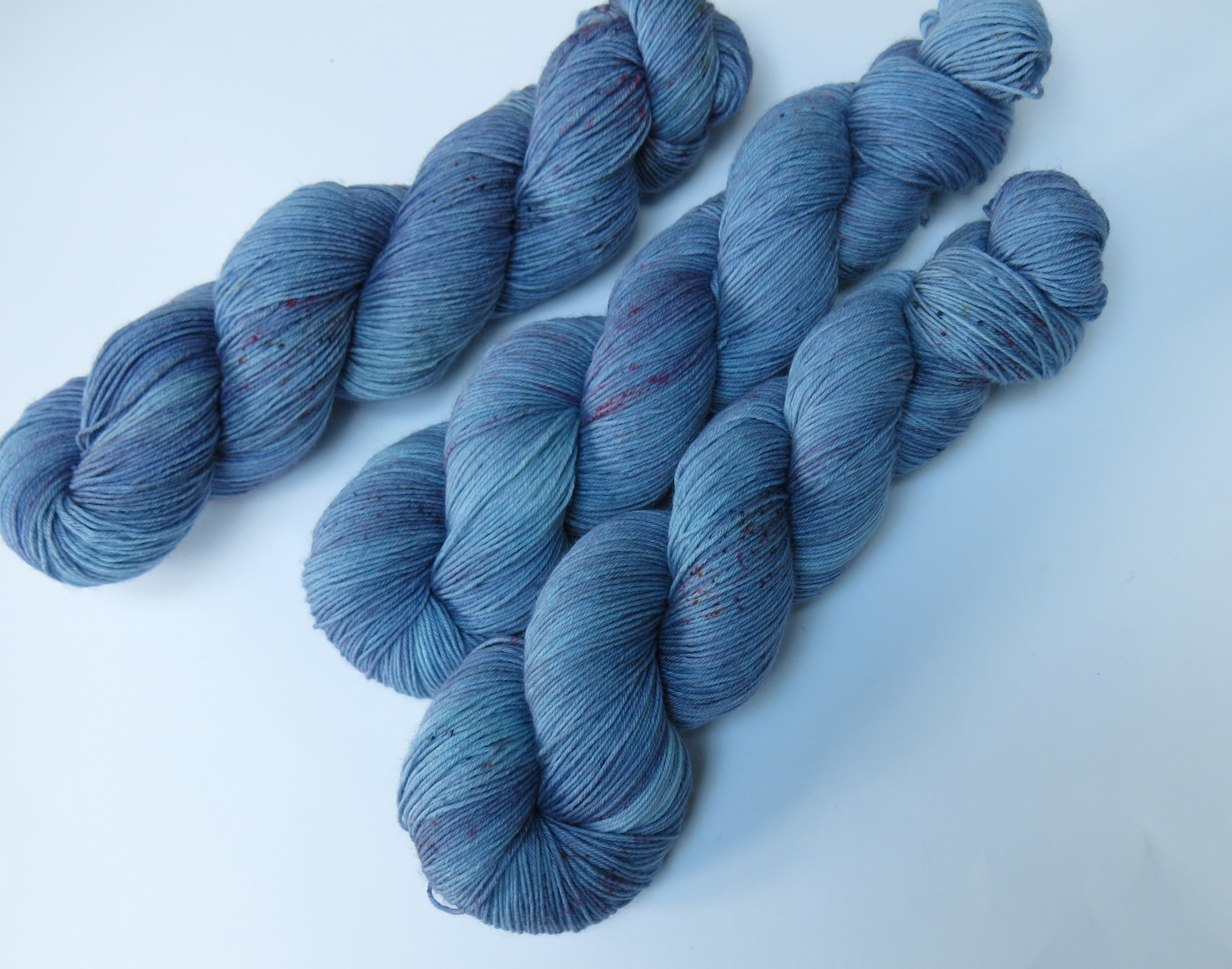 hand dyed 100g superwash merino with nylon sock yarn skein