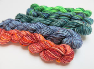 hand dyed yarns inspired by sea tales and mythology