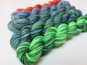 mermaid and kraken superwash merino sock yarn sets