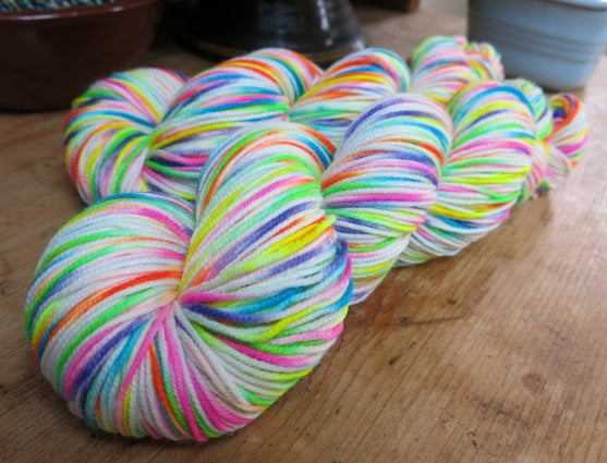 patsy dk hand dyed with neon uv reactive colours