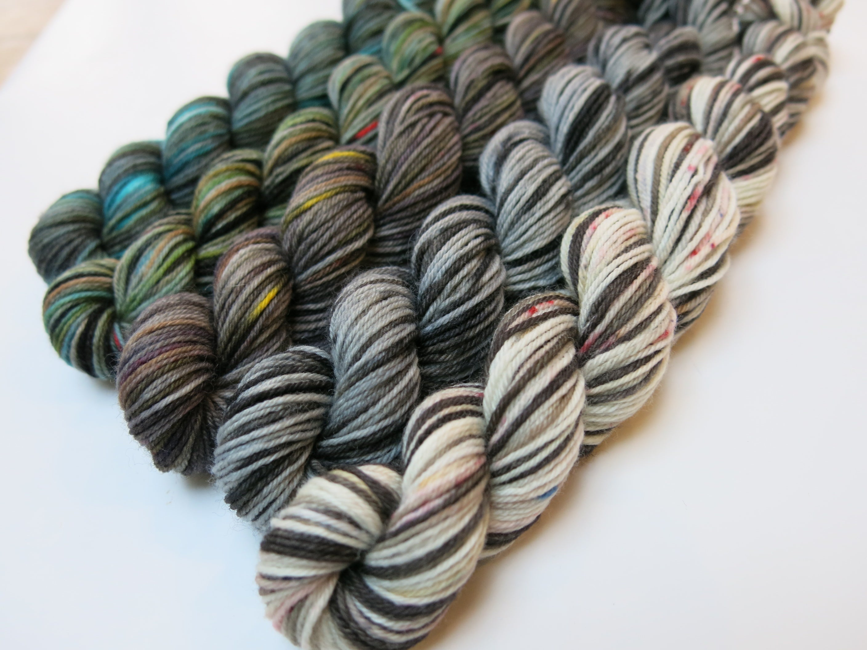 indie dyed scottish myths and legends mini skein set