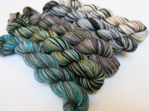 sock yarn mini skein set with burke and hare sawney bean
