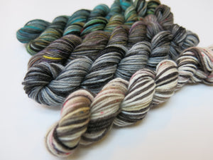 sock yarn mini skein set with kelpie and loch ness monster