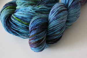 hand dyed superwash merino for knitting or crochet