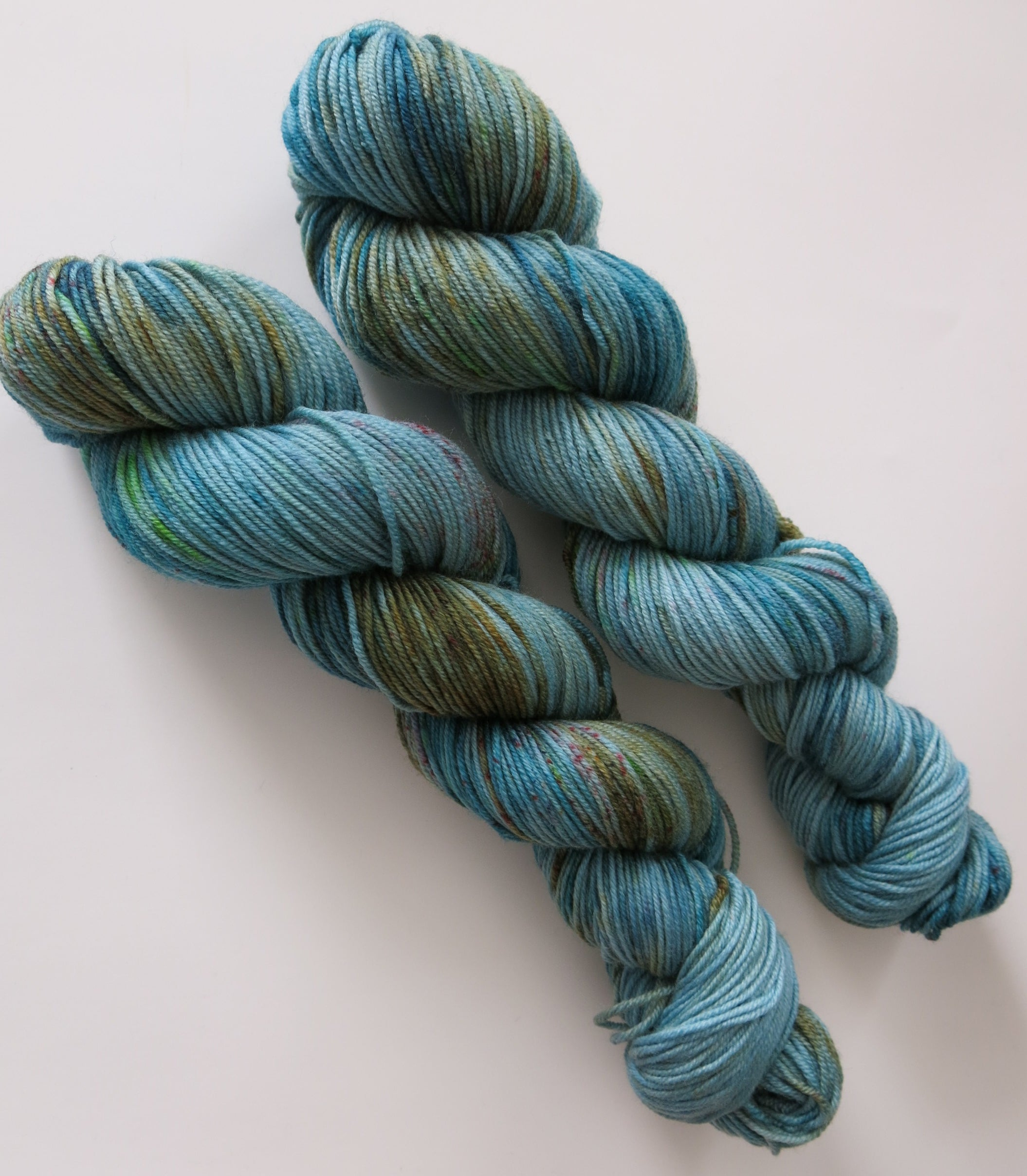 indie dyed double knit yarn skeins by my mama knits