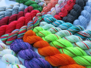 hand dyed in scotland 20g mini skeins for knitting