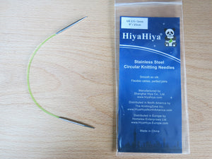 "HiyaHiya 9"" Stainless Steel Short Tip Circular Knitting Needle"