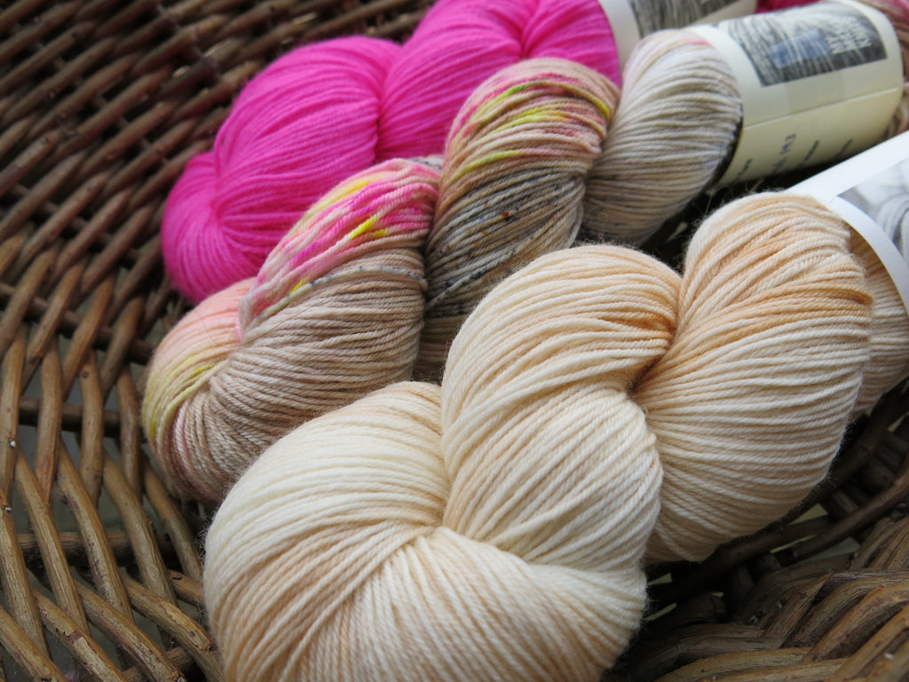 hand dyed three skein sock yarn fade set