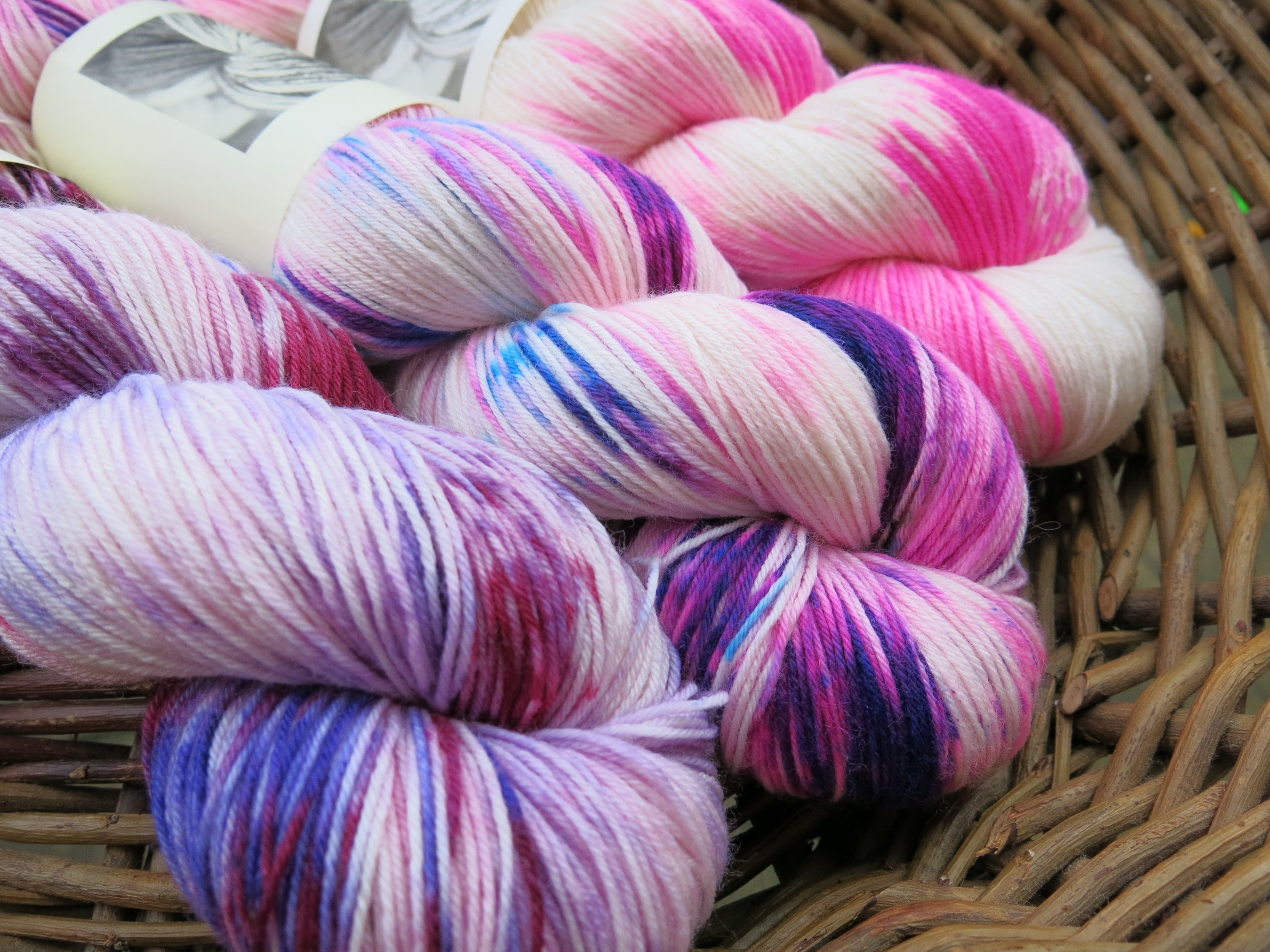 indie dyed neon pink sock yarn fade kit
