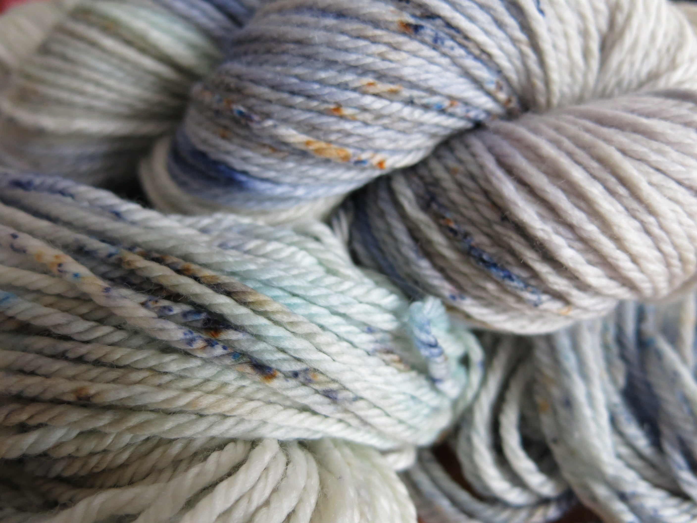 pastel hand dyed superwash aran yarn skeins