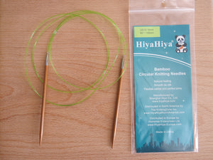 hiyahiya 150 cm fixed bamboo circular knitting needles