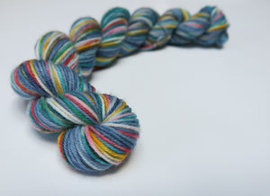 indie dyed superwash merino sock yarn