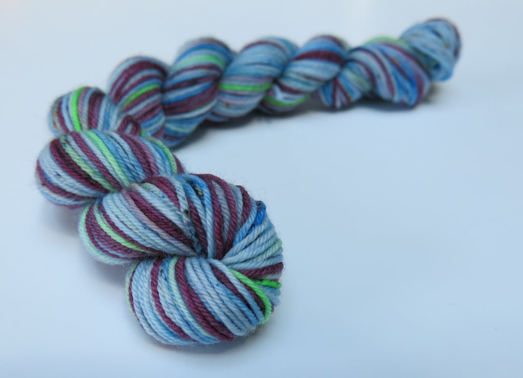 hand dyed superwash merino sock yarn mini skein