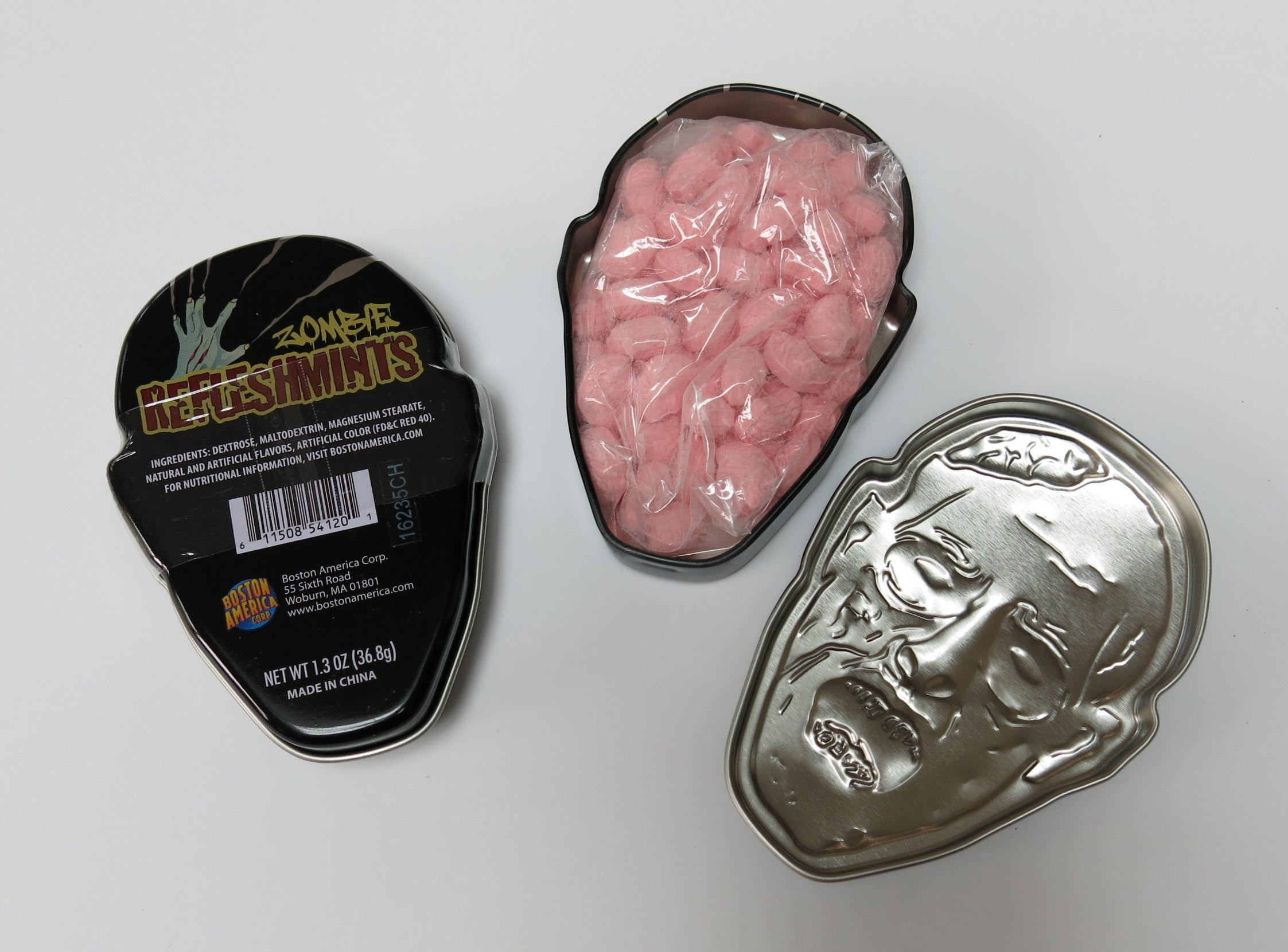 refleshmints undead corpse tin with brain mint candy