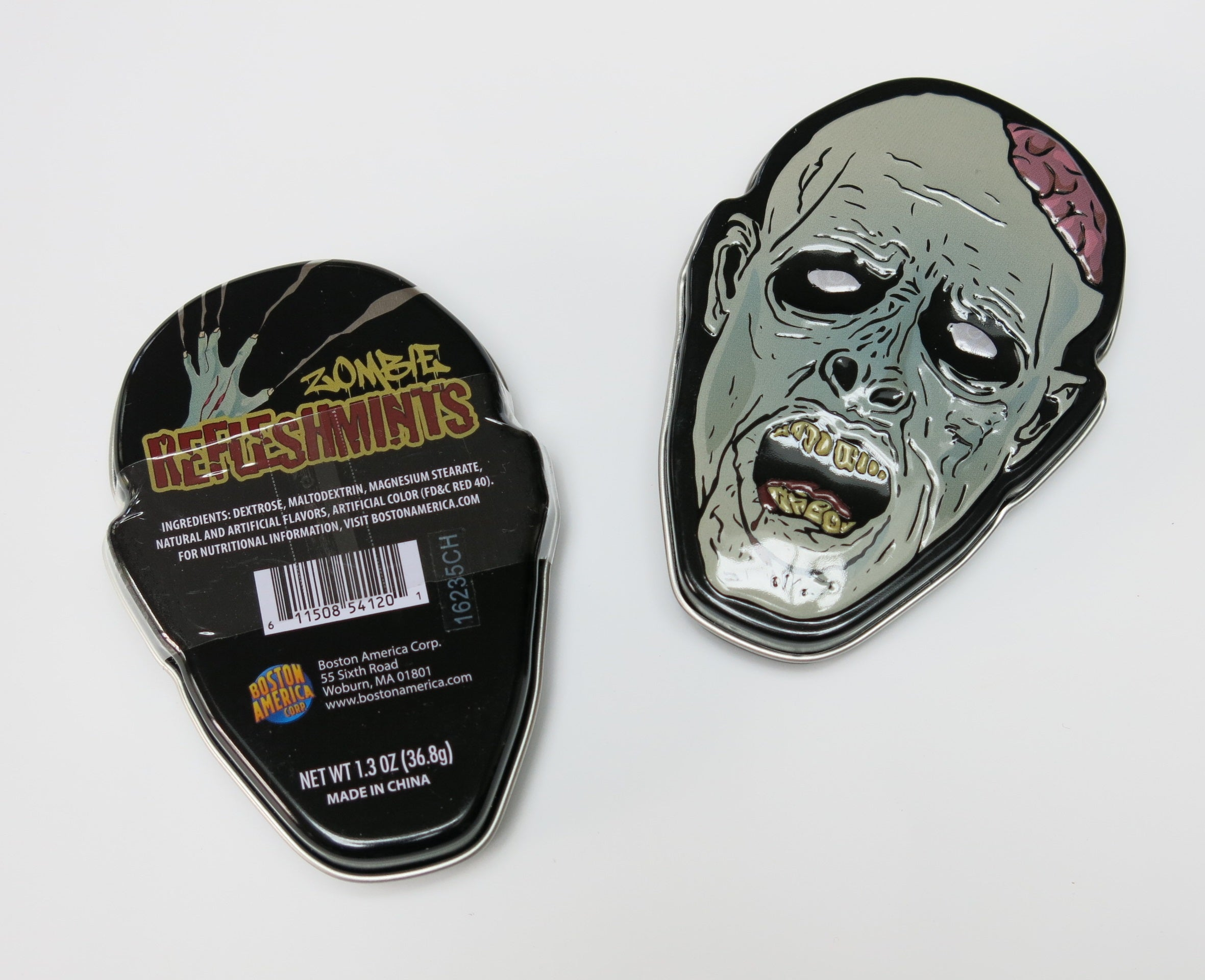 zombie tin with candy