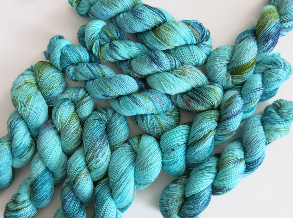 minch men hand dyed blue yarn with a scottish theme