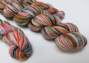hand dyed merino sock yarn inspired by fear and loathing